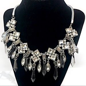 Black Grey Statement Necklace